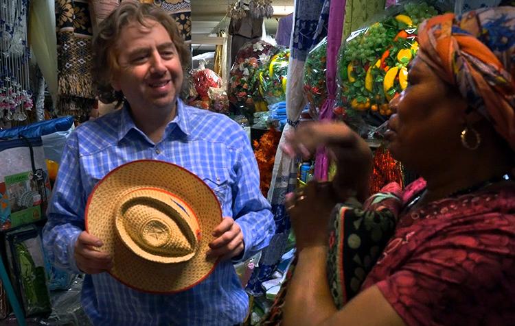 Director Joel Gilbert in Little Haiti.